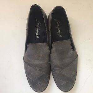 Free People Grey Sitar Loafers Size 41
